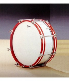 "WOOD SHELL DRUM 35,5 Ø x 18 cm. (14"" Ø x 7""). Chromed bolts."