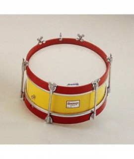 "JUNIOR SIDE DRUM 30,5 Ø x 15 cm.  (12"" Ø x 4""). Chromed bolts. Wooden Shell."