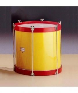 "TENOR DRUM 38 Ø x 38,5 cm. (15"" Ø x 15""). Chromed bolts. Wood Shell."