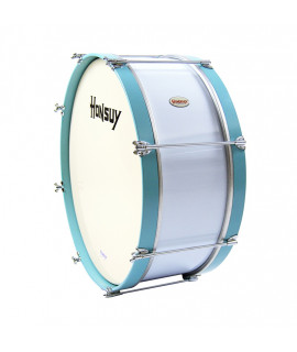 "MARCHING BASS DRUM 55,8 Ø x 25 cm.(22"" Ø x 10"") BLUE/WHITE"