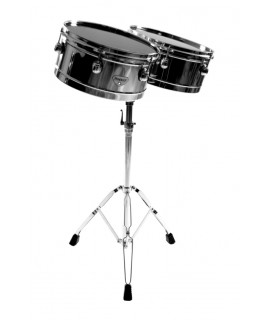 "13"" and 14"" LATIN TIMBALES, WITH STAND"