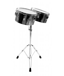 "12 and 13"" LATIN TIMBALES, WITH STAND"