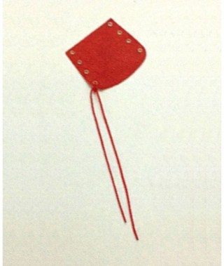 GAUNTLET FOR MINI BUGLE, red