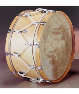 "MARCHING BASS DRUM 60 Ø x 35 cm. (24"" Ø x 14""). Skin Head."