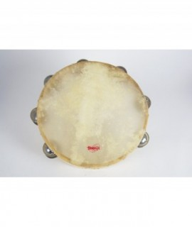 TAMBOURIN 25 cm. Skin head, double jingle