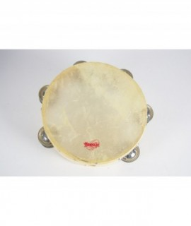 TAMBOURIN 20 cm. Skin head, double jingle
