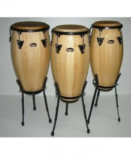LATIN-STYLE CONGA DRUM - TWIN OF 3 PIECES w/leg