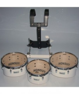 3 MARCHING TOMS SET