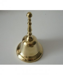 BELL W/BRASS HANDLE 7 x 13 cm.